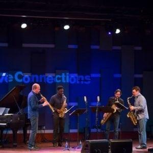 Prism Quartet performing on stage