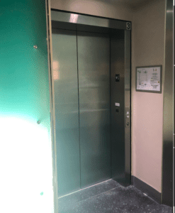 An accessible elevator is pictured